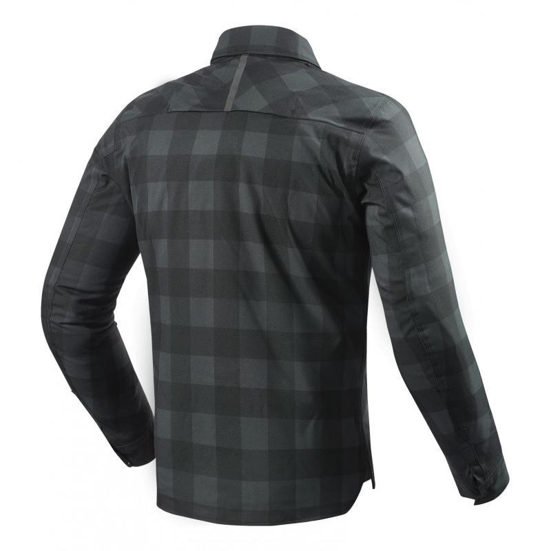 Sur-chemise moto Rev'it Bison noir/gris - 2