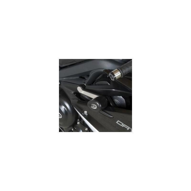Tampons de protection R&G Racing Aero race version noir Triumph Daytona 675 13-16