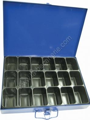 malette de rangement 18 compartiments. Black Bedroom Furniture Sets. Home Design Ideas