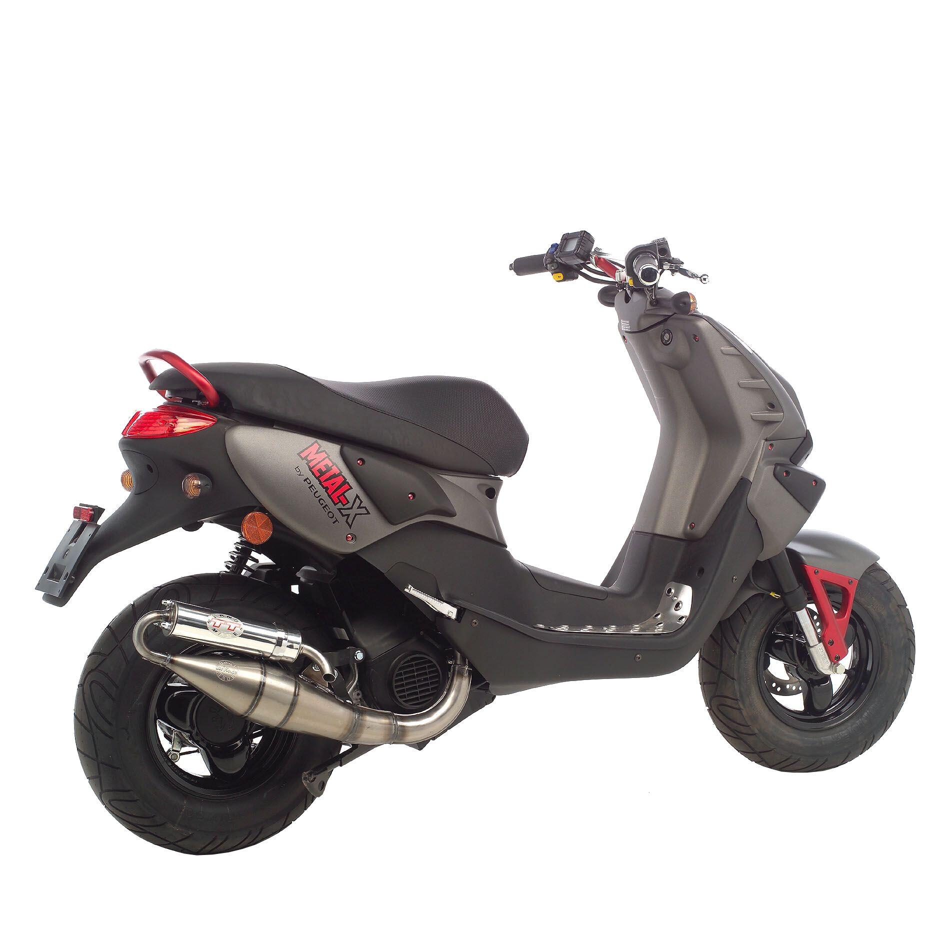 Pot déchappement scooter Leovince Hand Made TT pour Peugeot Metal-X 5