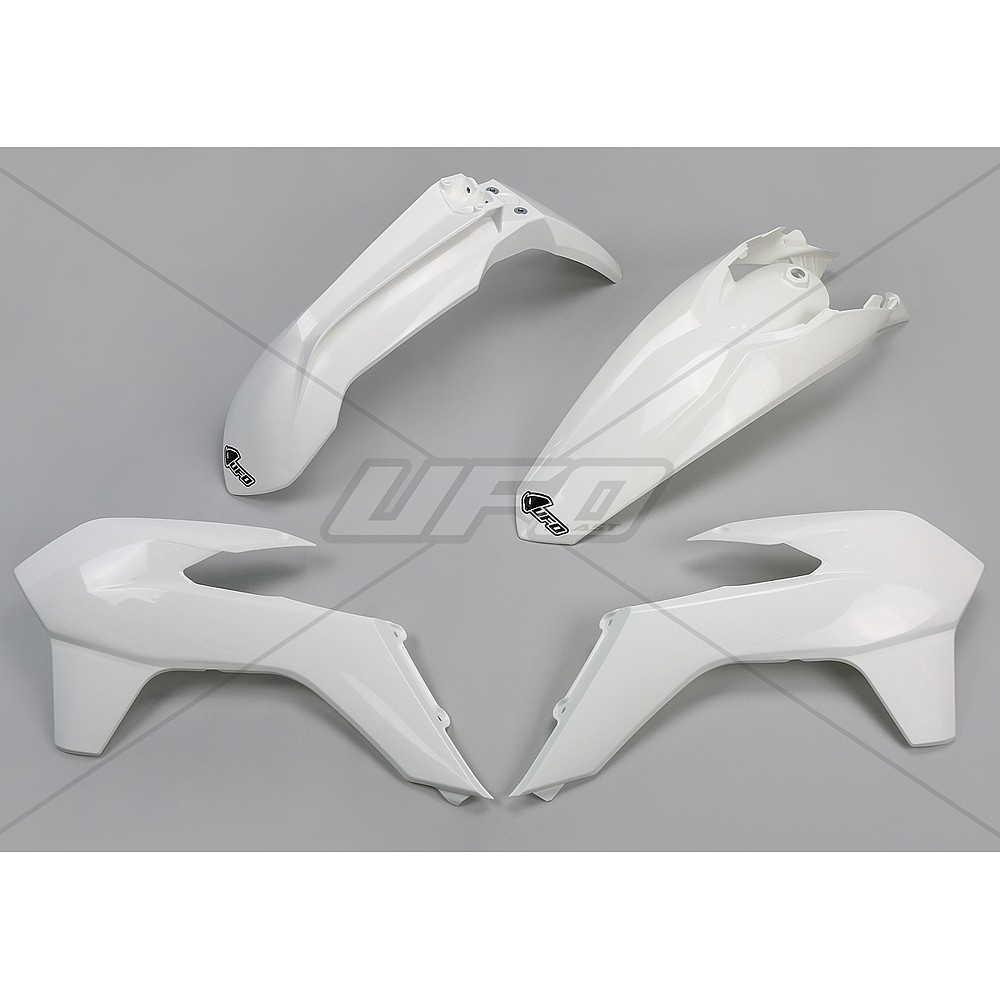 Kit plastique UFO KTM 125 EXC 14-16 blanc