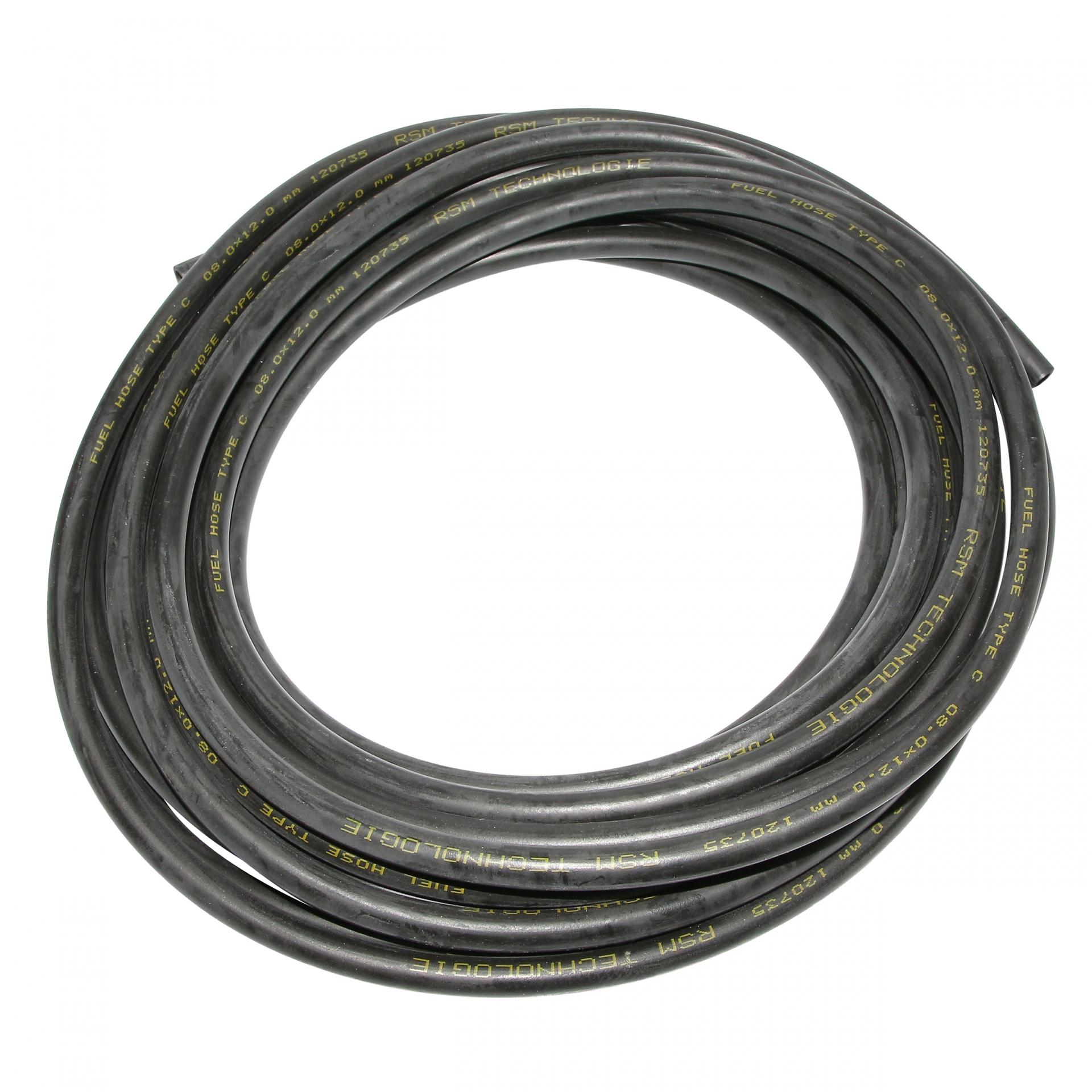 Durite essence NBR 8x12 spéciale hydrocarbure et huile noire