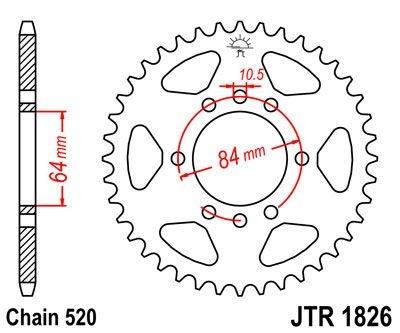 Couronne JT Sprockets Acier pas 520 39 dents - Pour Suzuki T20 250 196