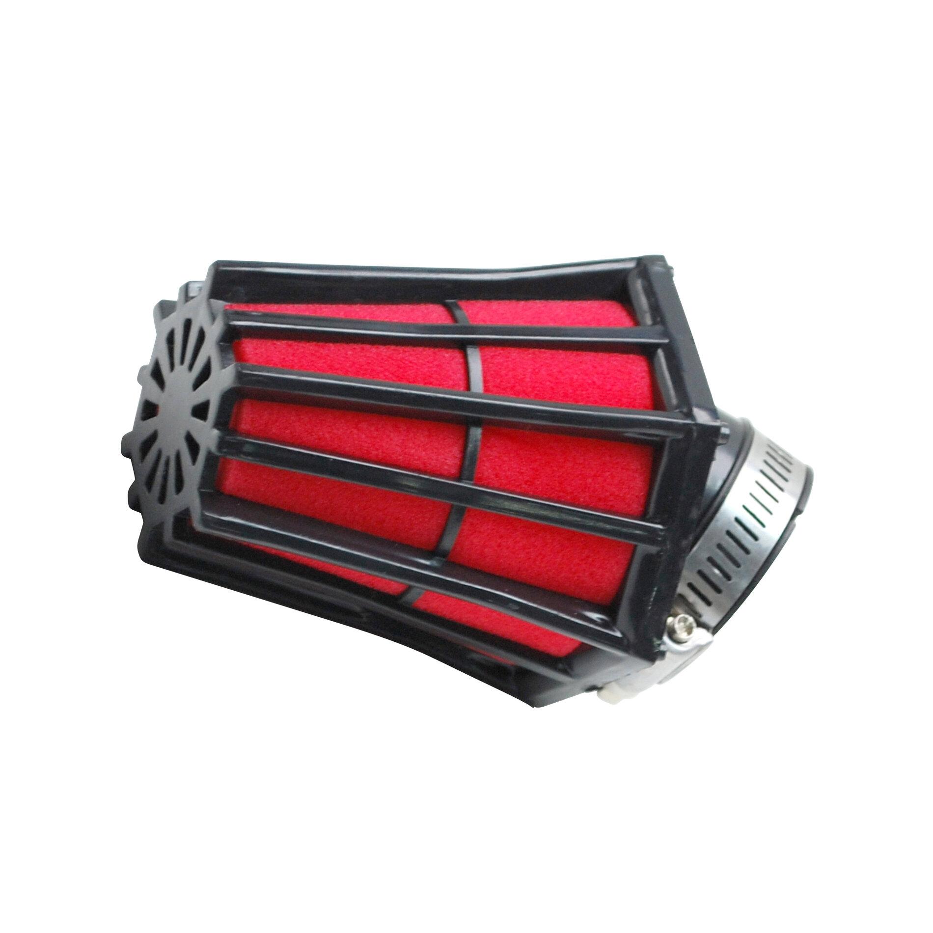 Filtre à Air Tun'R D28-35 Hexagonal Coude 45 Noir Mousse Rouge