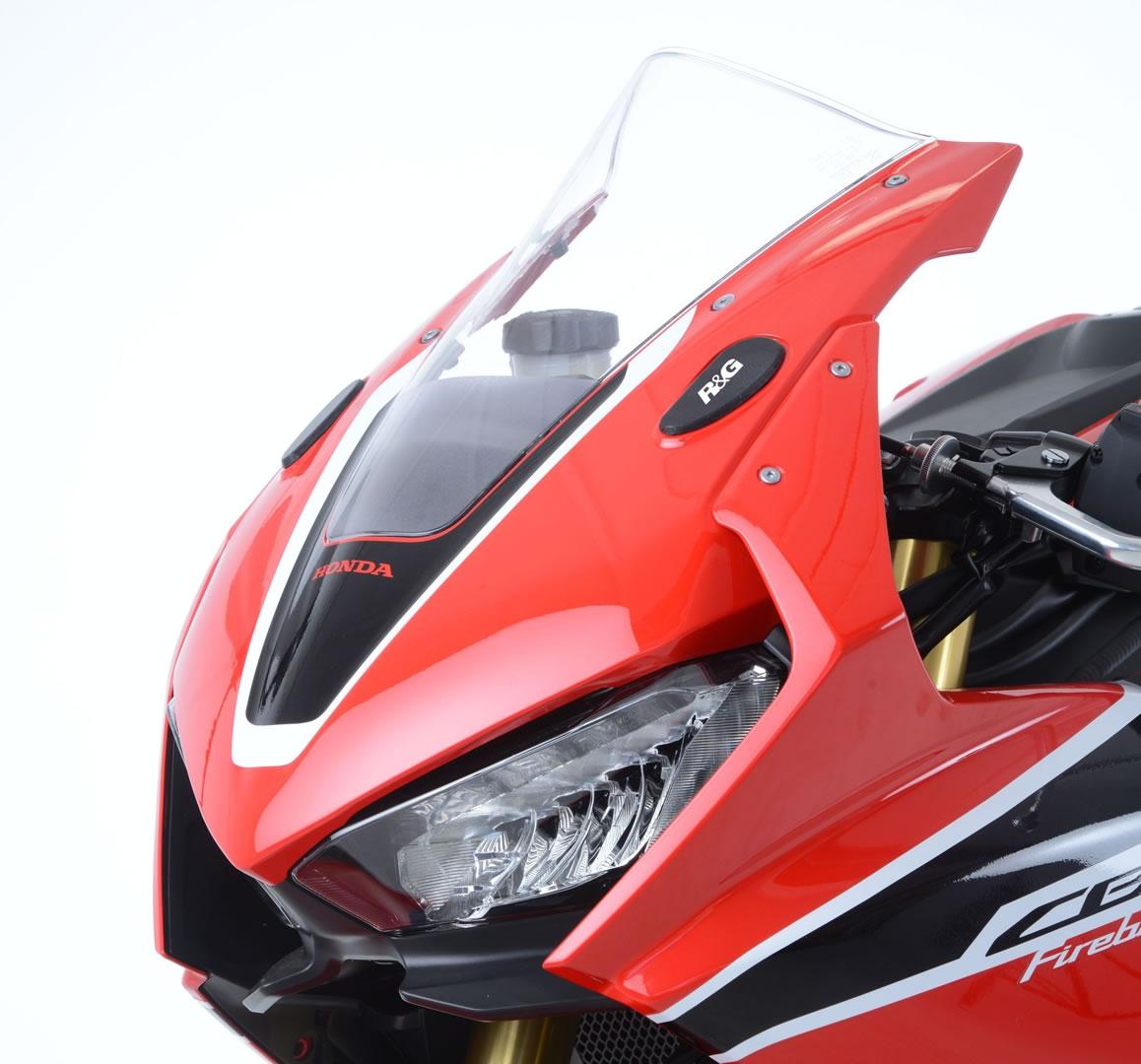 Caches orifices de rétroviseurs R&G Racing noirs Honda CBR 1000 RR 17-