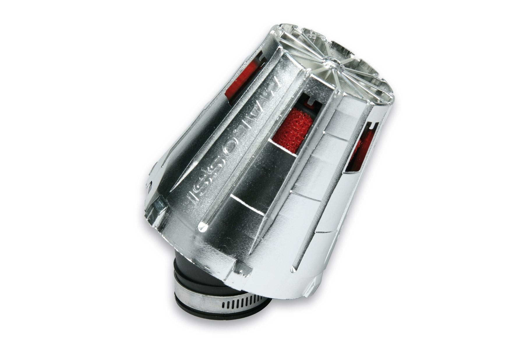 Filtre à air Malossi Red Filter E5 D.38 incliné 30 couvercle chromé