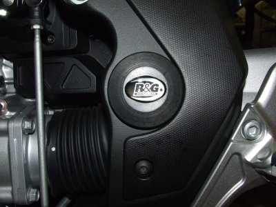 Insert de cadre gauche R&G Racing noir Honda VFR 1200 X Crosstourer 12
