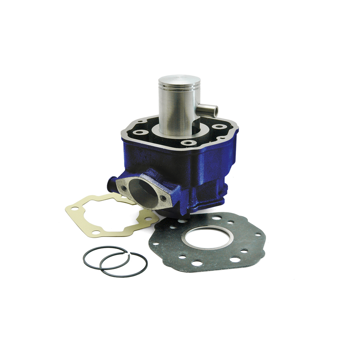 Cylindre Carenzi D.40 Fonte Derbi Euro 2 Bleu 50cc