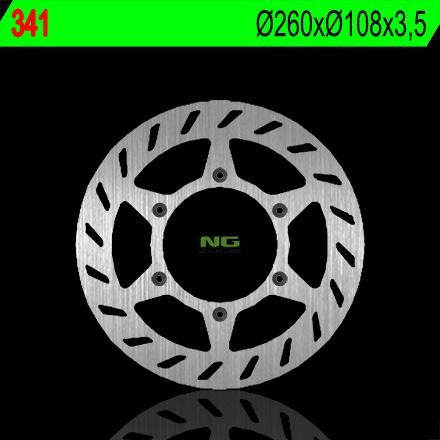 Disque de frein NG Brake Disc D.260 avant gauche - 341