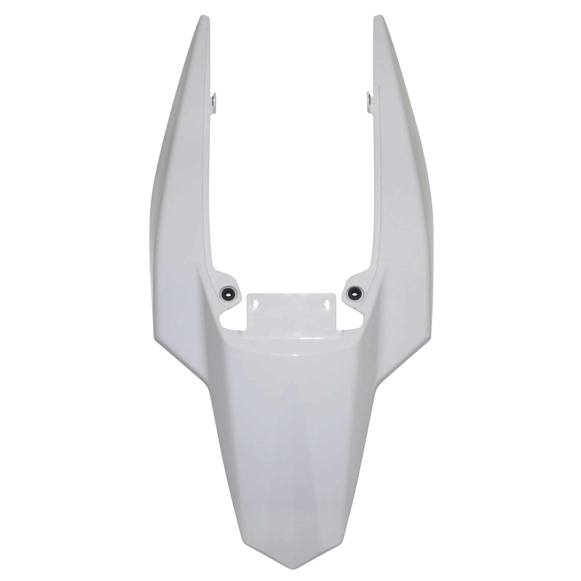 Coque arrière 1Tek Origine monocoque blanc brillant Derbi Senda DRD 20
