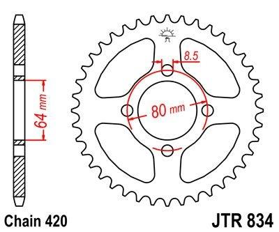 Couronne JT Sprockets Acier pas 420 32 dents - Pour Yamaha PW 80 91-06