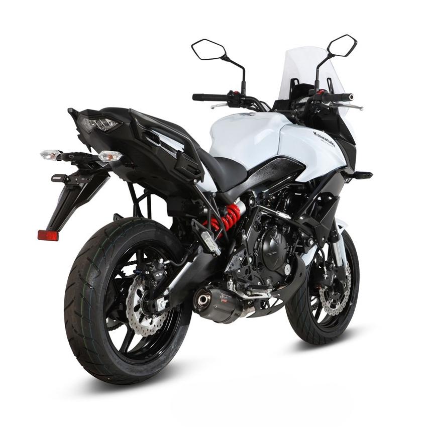 Ligne complète inox homologuée MIVV Suono acier noir Kawasaki Versys 6