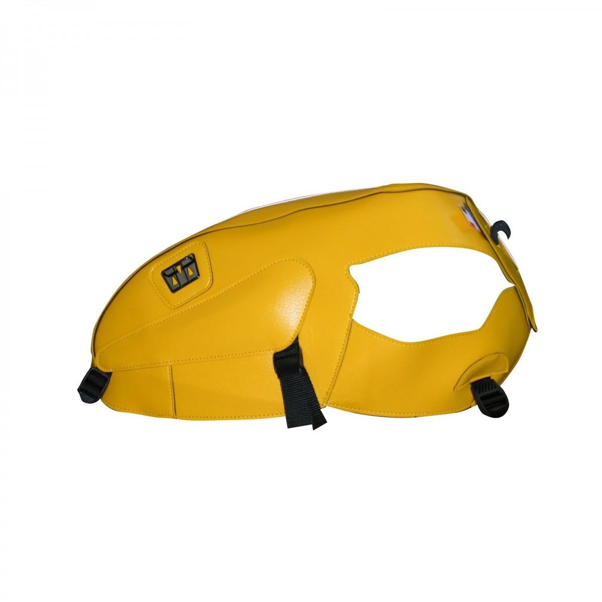 Protège-réservoir Bagster Triumph Thruxton 900 05-06 jaune/bande blanc