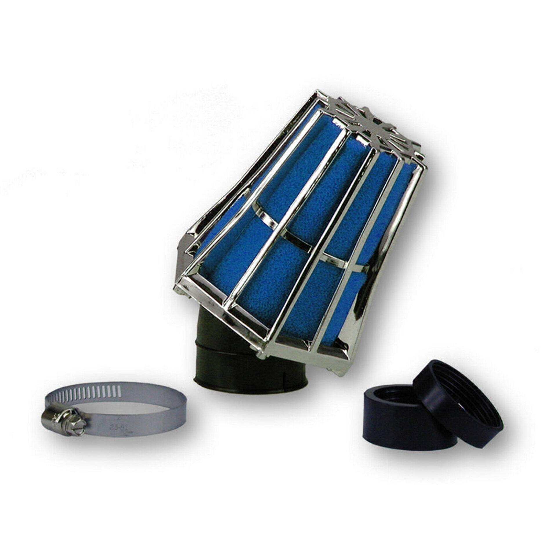 Filtre à air Hexagonal fixation à 30 D.28-35 mousse Bleue - Noir