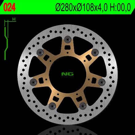 Disque de frein NG Brake Disc D.280 avant droit - 024