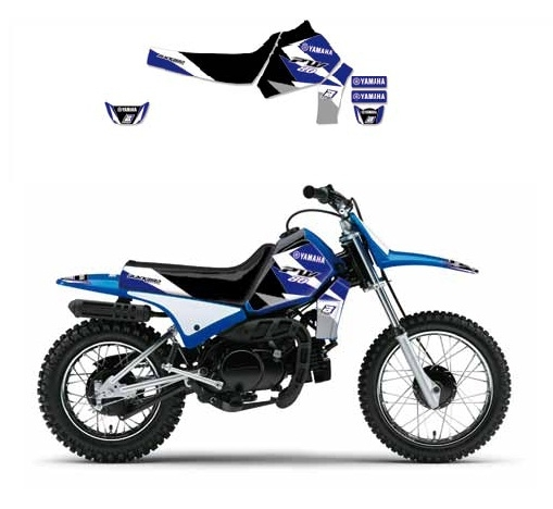 Kit déco Blackbird Dream Graphic 3 Yamaha 80 PW 96-14 bleu