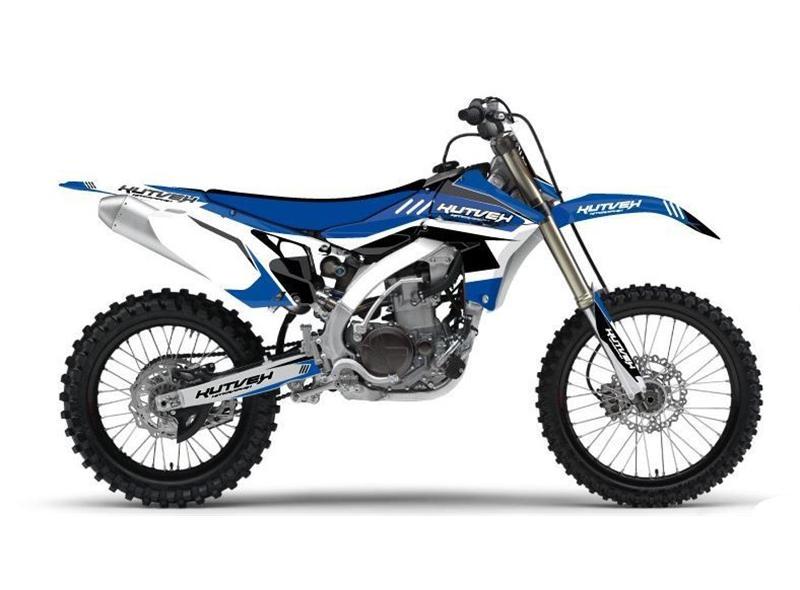 Kit déco Kutvek Chrono bleu Yamaha WR450F