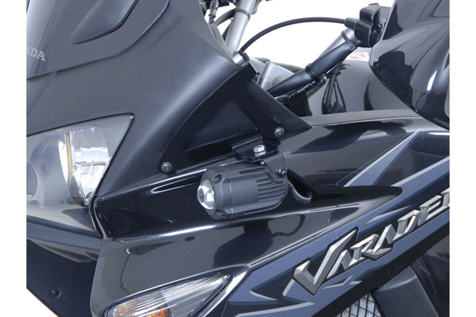 Support pour feux additionnels SW-MOTECH noir Honda XL1000V Varadero 0