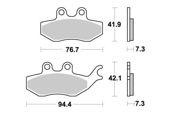 Plaquettes de frein SBS céramique 173HF
