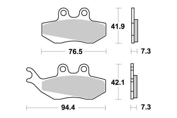 Plaquettes de frein SBS céramique 120HF