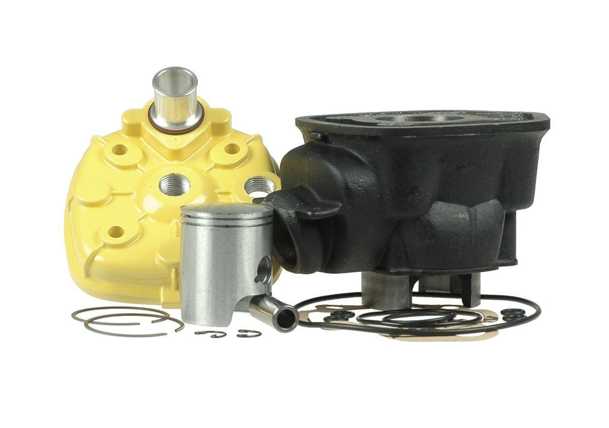 Cylindre Culasse D.40 KRD High Tech Sport Fonte Minarelli AM6 LC 50cc