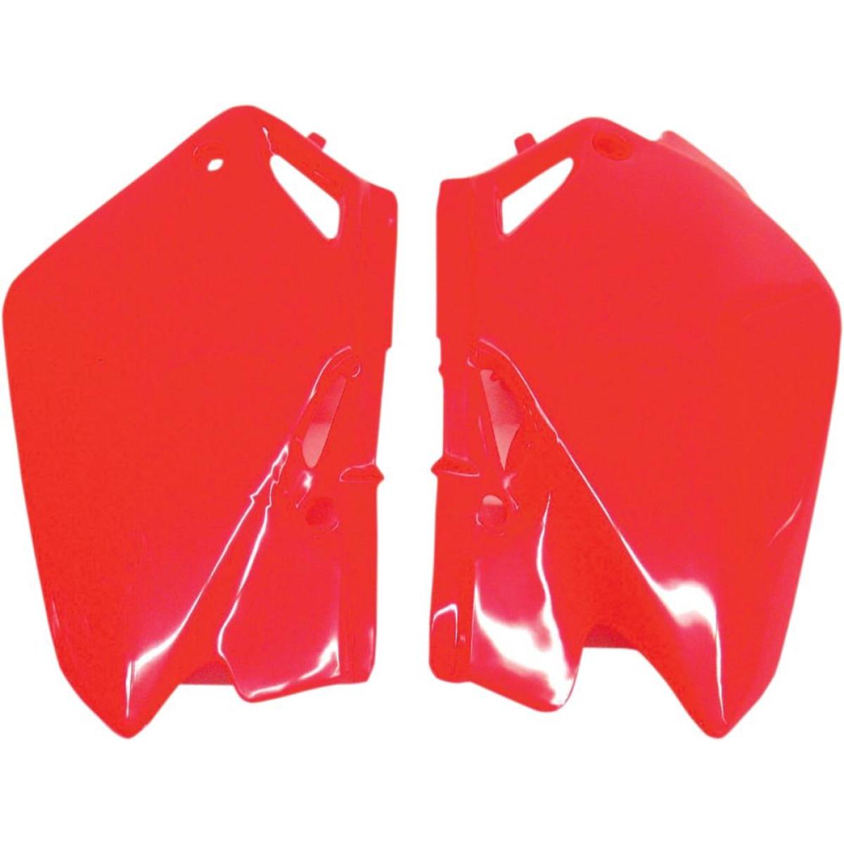 Plaques numéro latérales UFO Honda CR 85R 03-08 rouge (rouge CR/CRF 00