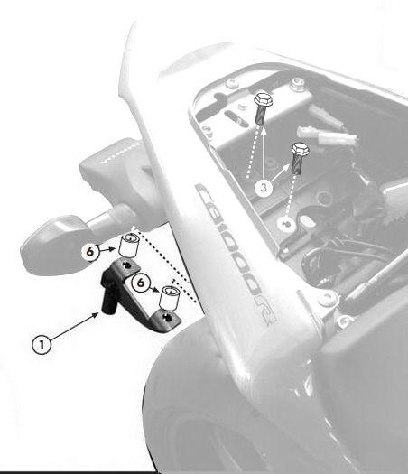 Kit fixation Givi TE1101 Honda CB 1000 R 08-14
