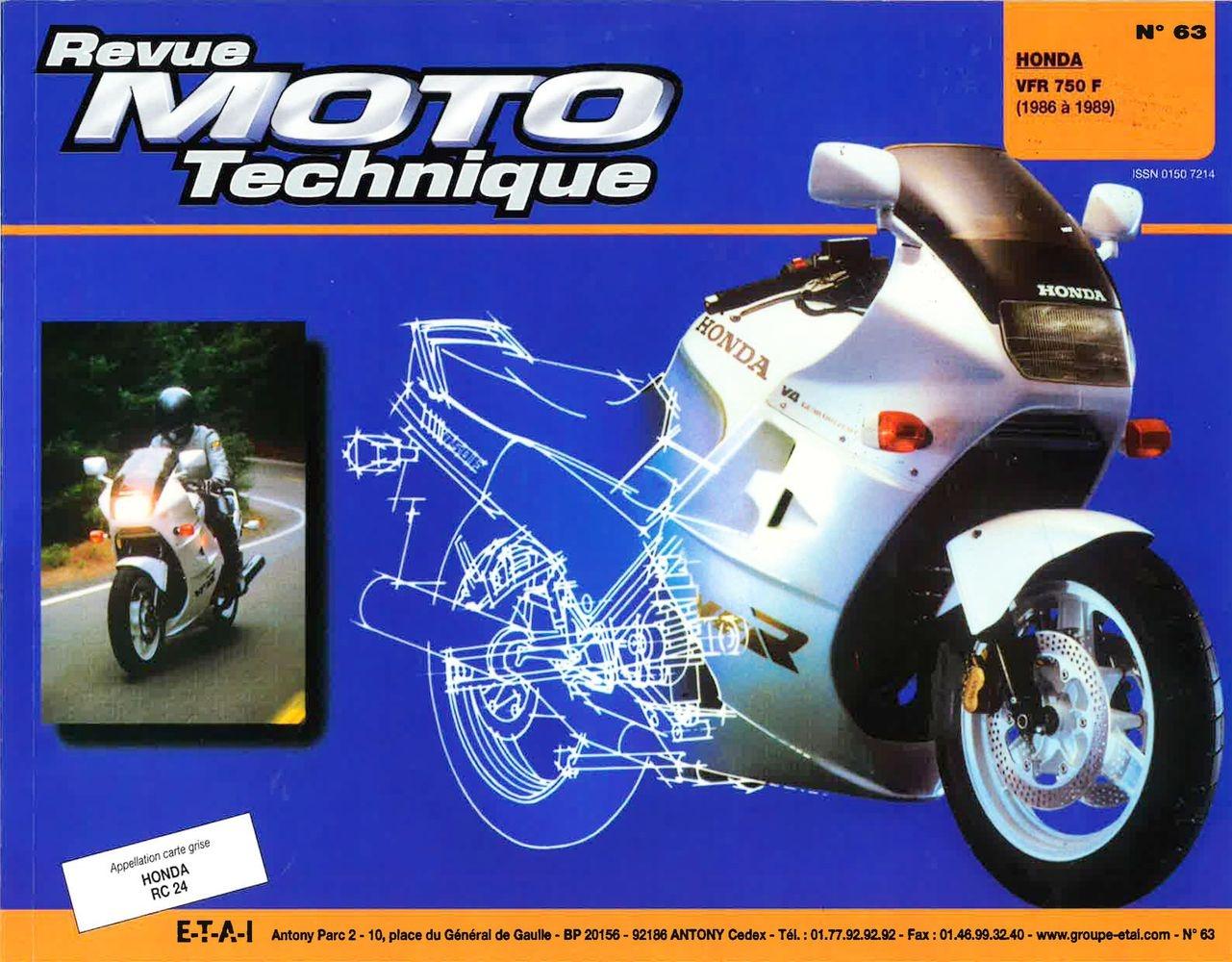 Revue Moto Technique 63.2 Honda VFR 750 F 86-88