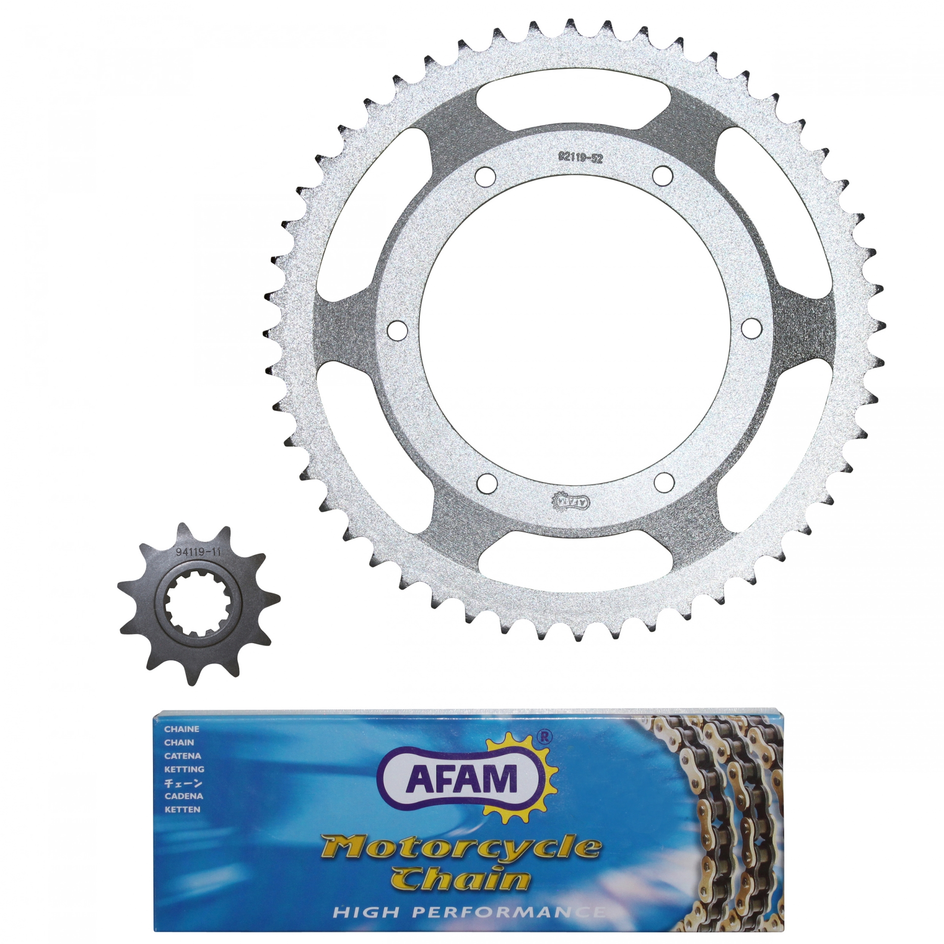 Kit chaîne Afam 11x52 Peugeot 50 XPS Street 04-05