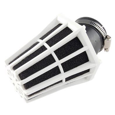 Filtre à Air Tun'R D28-35 Hexagonal Coude 30 Corps Blanc Mousse Noir