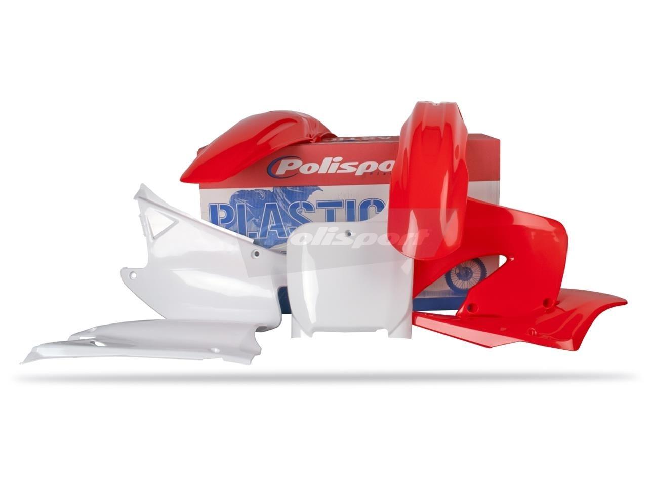 Kit plastique Polisport Honda CR 250R 00-01 (rouge/blanc origine)