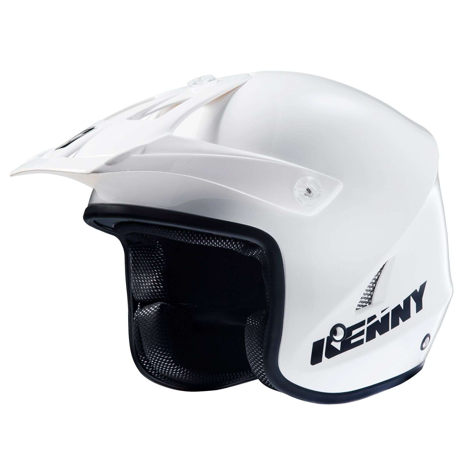 Casque Kenny Trial Up Solid Blanc - M