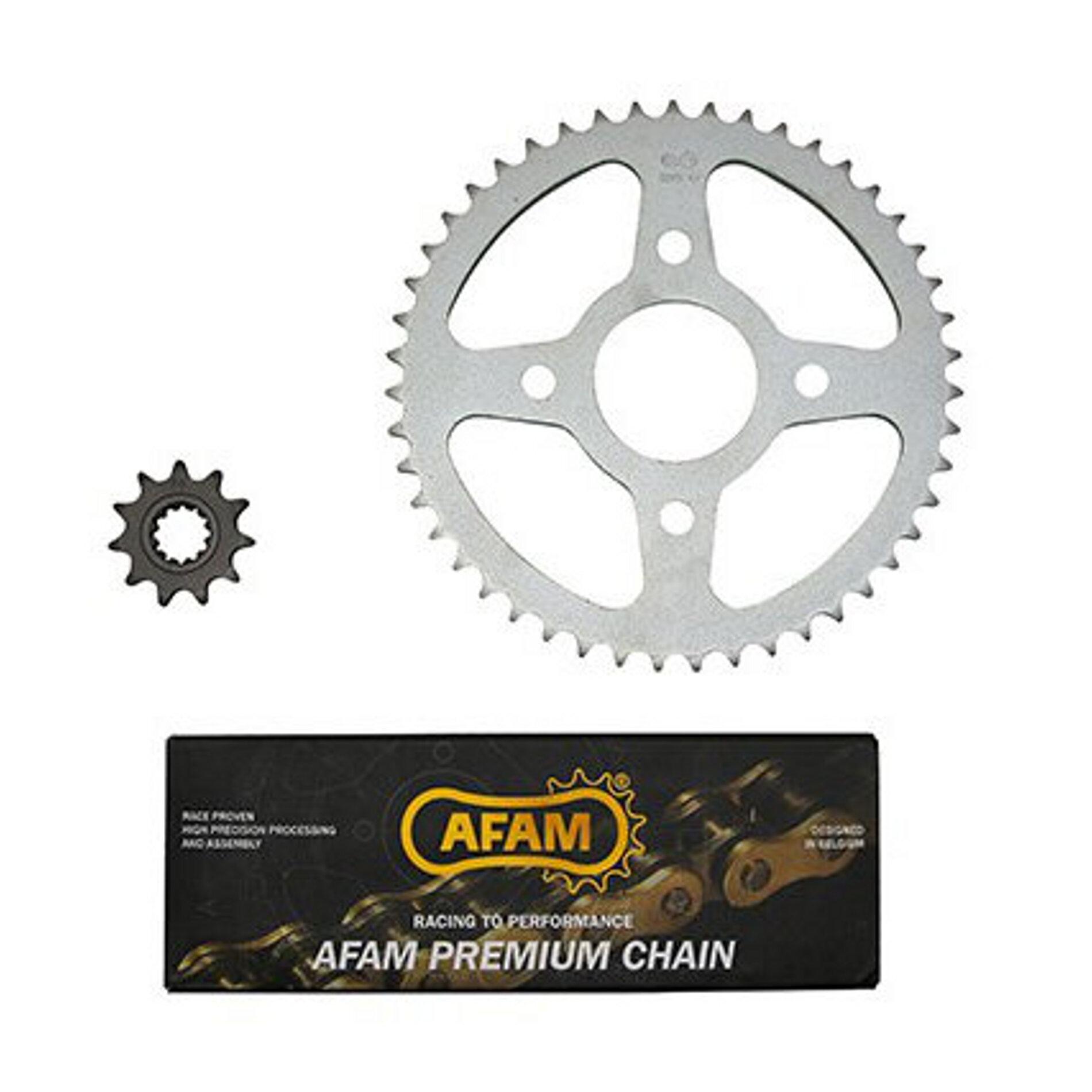 Kit chaîne Afam pas 420 11X47 MBK X-Power / Yamaha TZR 03-