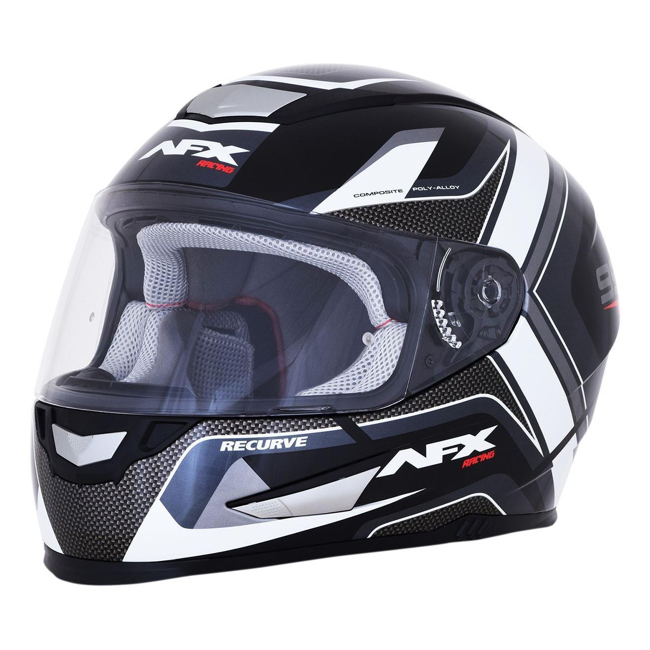 Casque intégral AFX FX99 blanc/noir - S