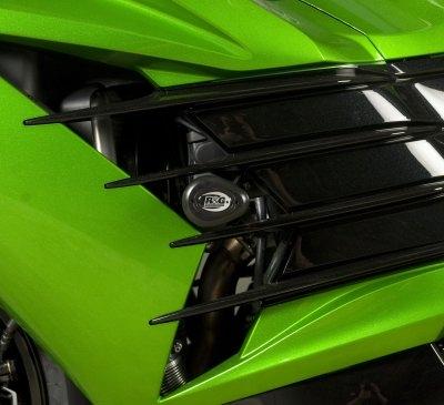 Tampons de protection R&G Racing Aero noir Kawasaki ZZR 1400 12-18