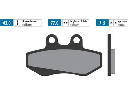 Plaquettes de frein avant Polini Senda R DRD 2003>04/GPR 50 >2004/XR6