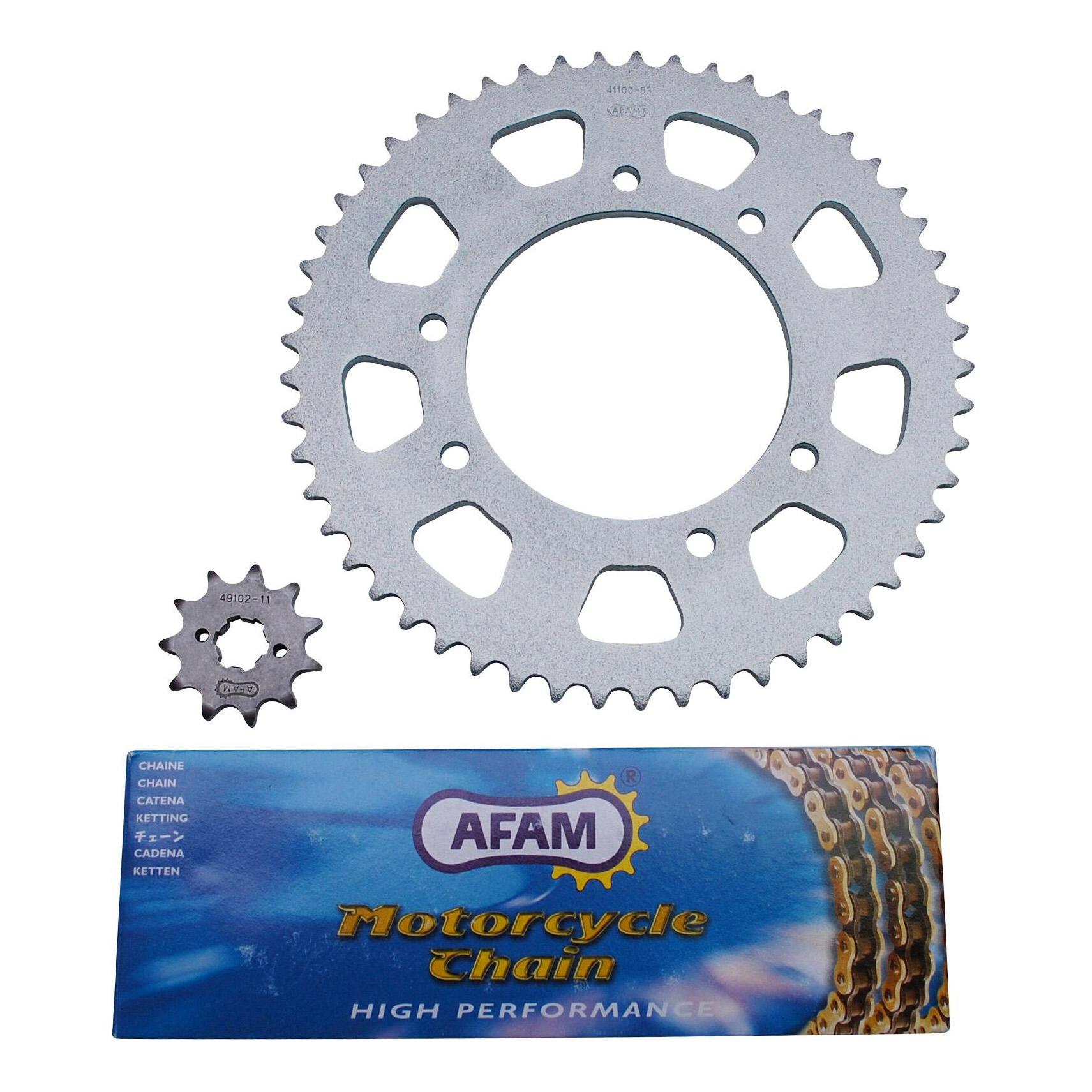 Kit chaîne Afam pas 420 11x53 alésage 102 mm adaptable senda drd r - d