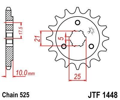 Pignon JT Sprockets Acier pas 525 15 dents - Pour Suzuki DR 800 94-98