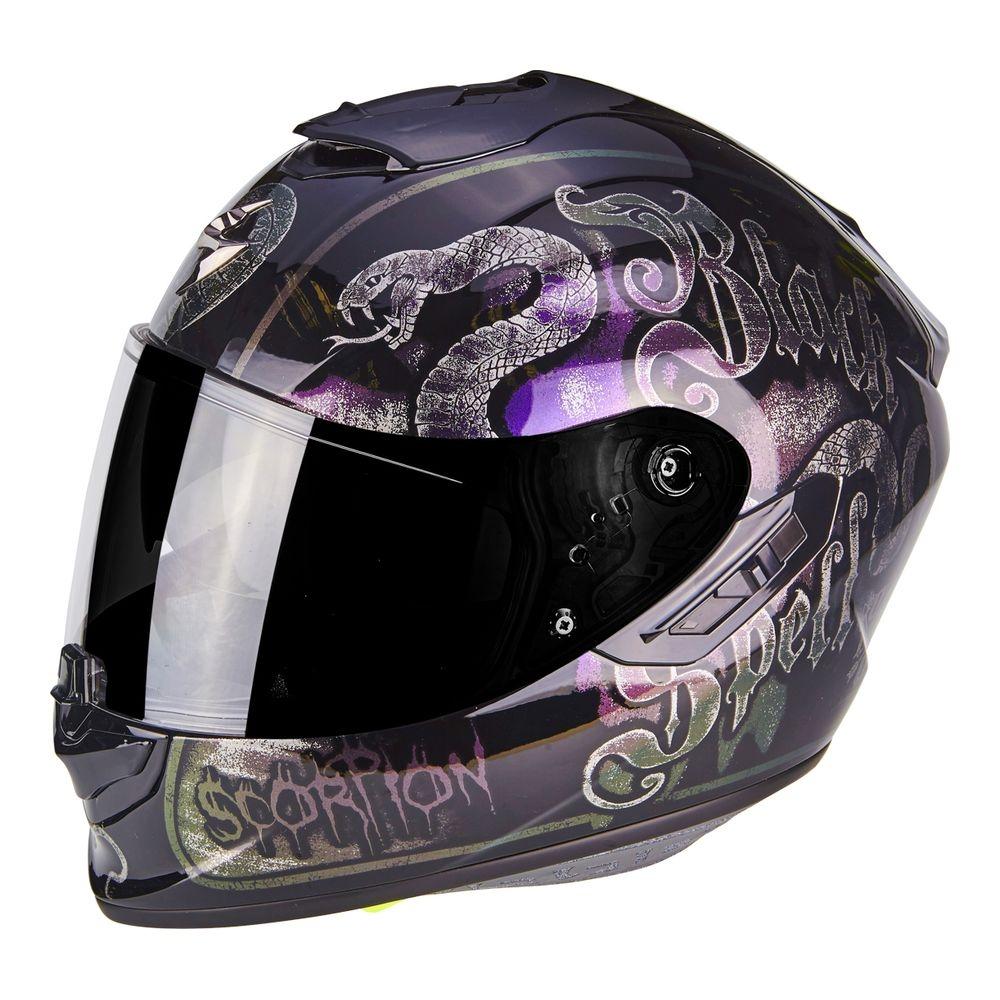 Casque intégral Scorpion EXO-1400 AIR BLACKSPELL noir/caméléon - XS
