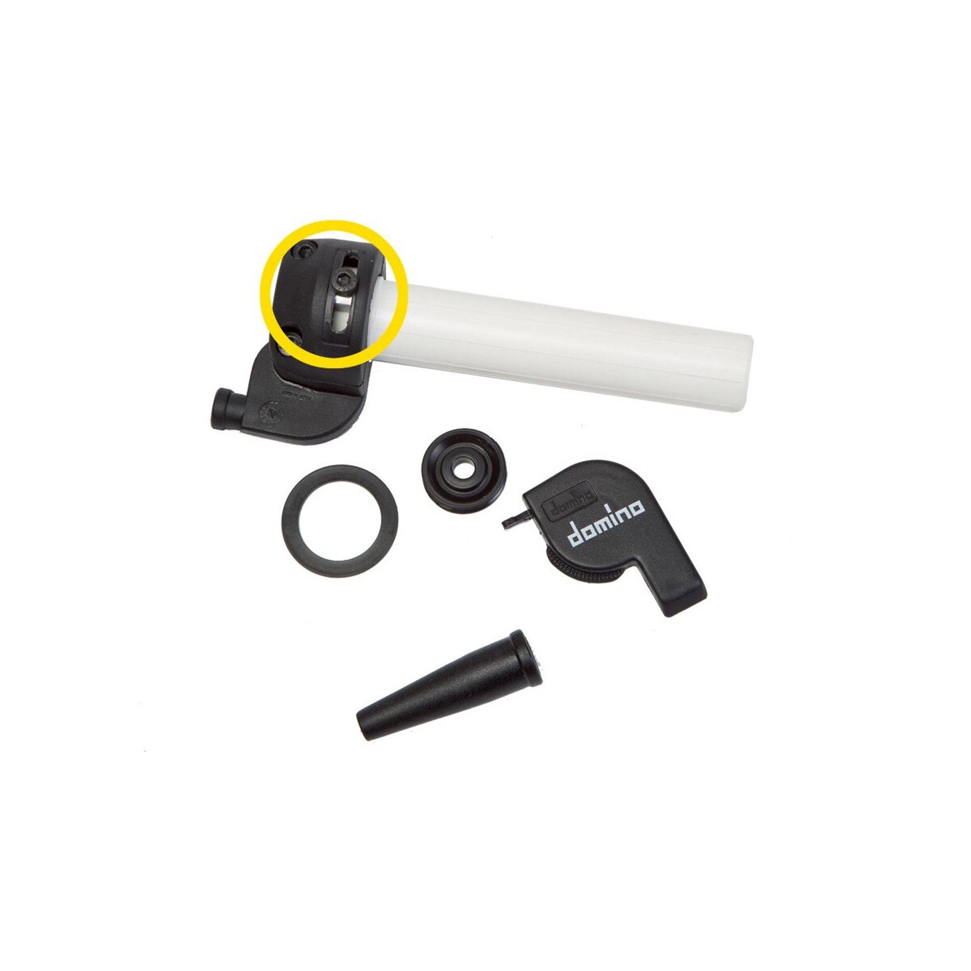 Poignée de gaz Domino rapido 28 mm 124