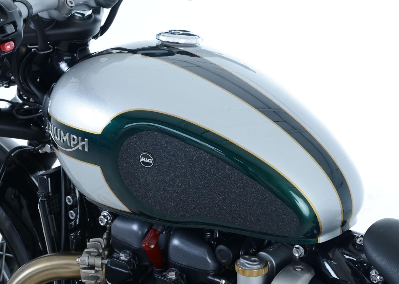 Kit grip de réservoir R&G Racing noir Triumph Bonneville Bobber 1200 1