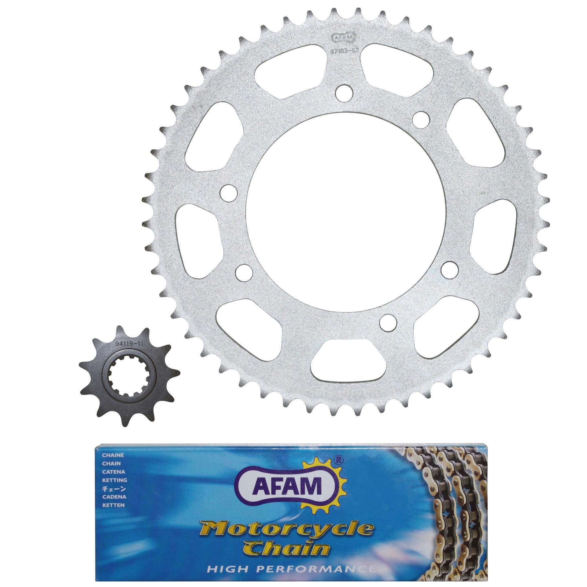Kit chaîne Afam 11x52 Peugeot 50 XPS 04-06