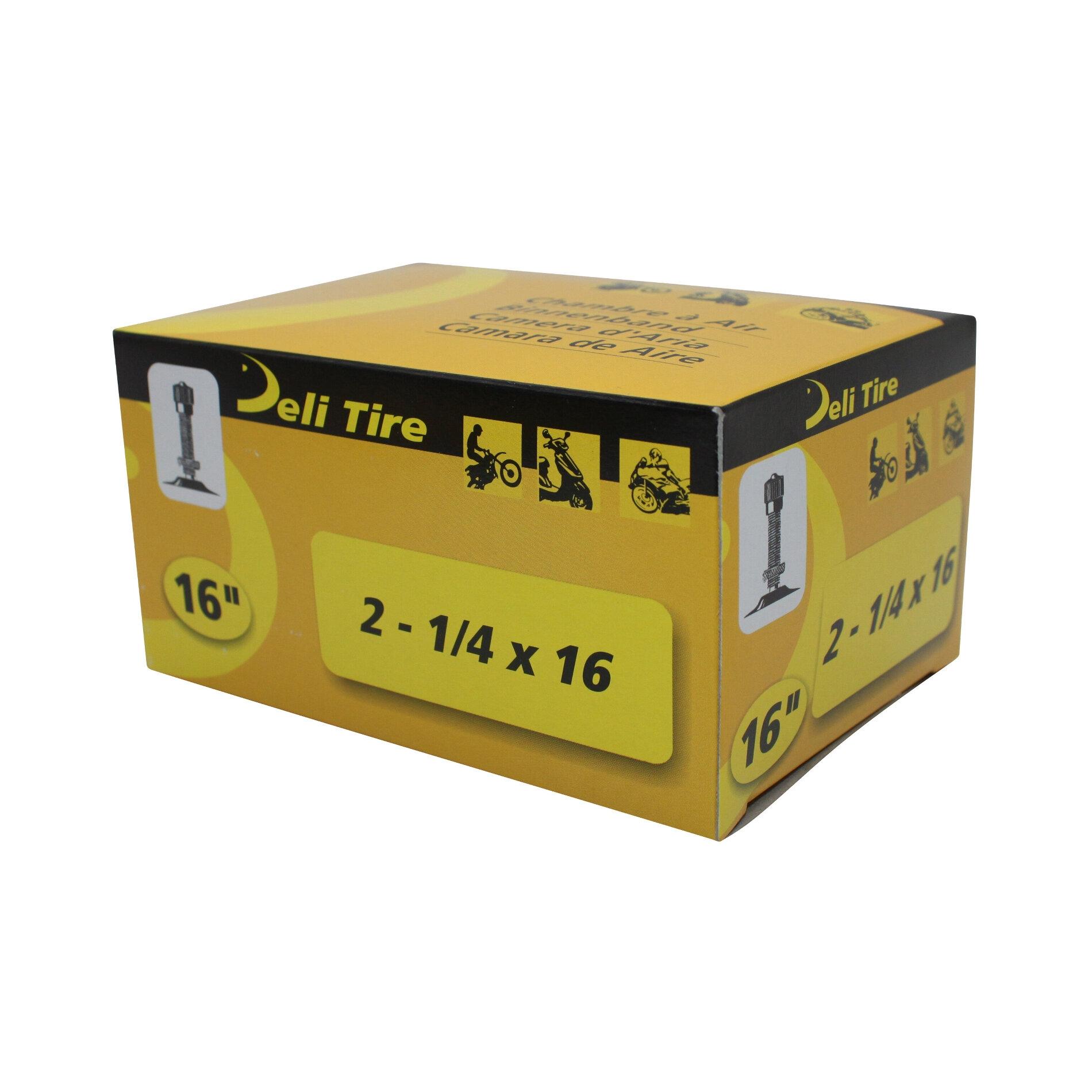 Chambre à Air 16 2 1/4x16 Vs Deli valve Droite Filetée avec Écrou