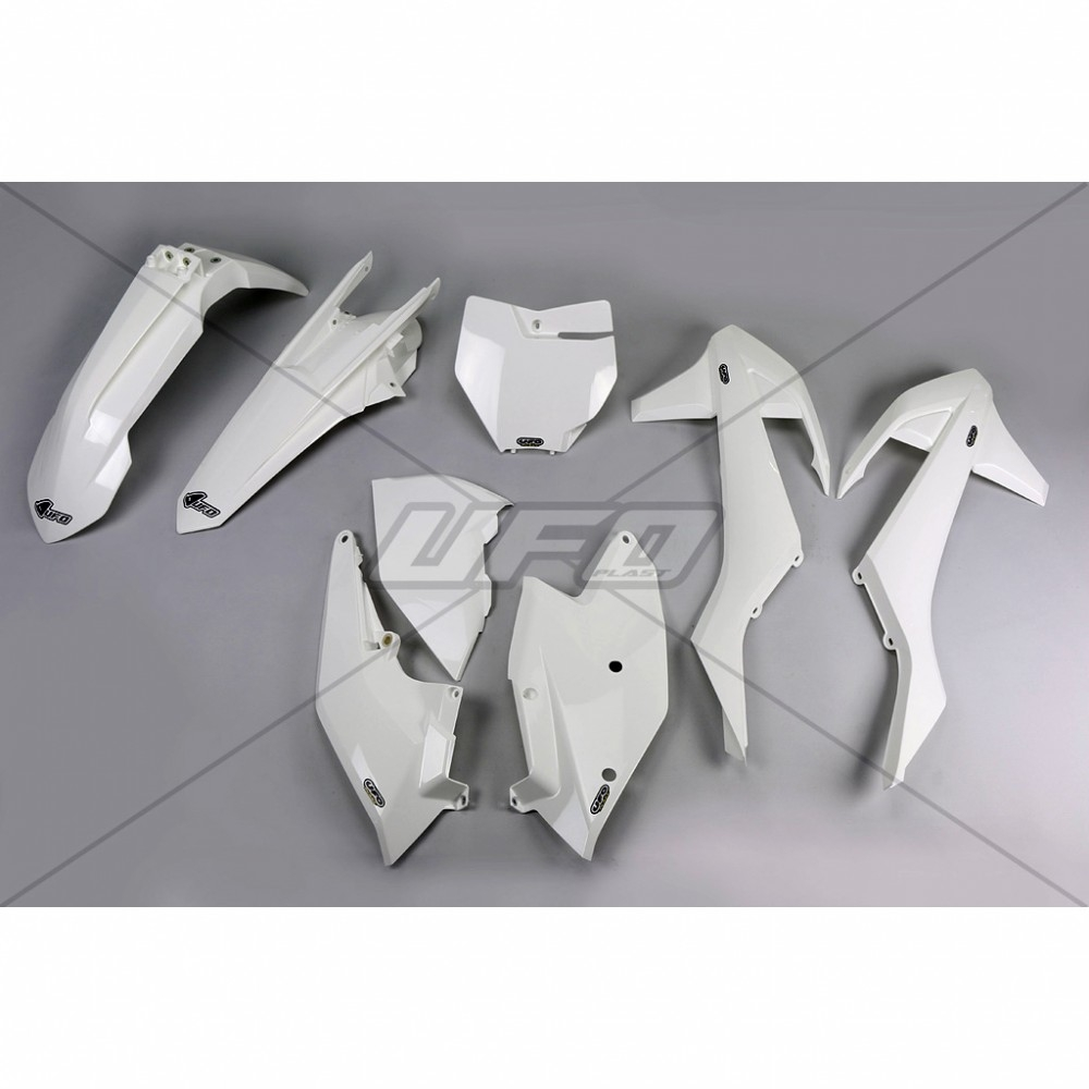 Kit plastique UFO KTM 125 SX 16-17 blanc