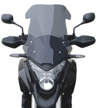 Pare-brise Bullster haute protection 48,5 cm fumé gris Honda VFR 1200