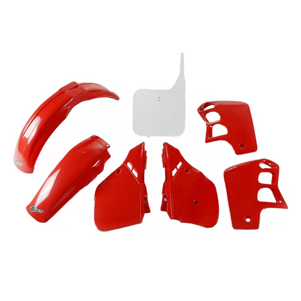 Kit plastique UFO Honda CR 500R 89-90 rouge/blanc (couleur origine 89)
