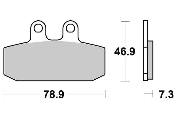 Plaquettes de frein SBS céramique 108HF