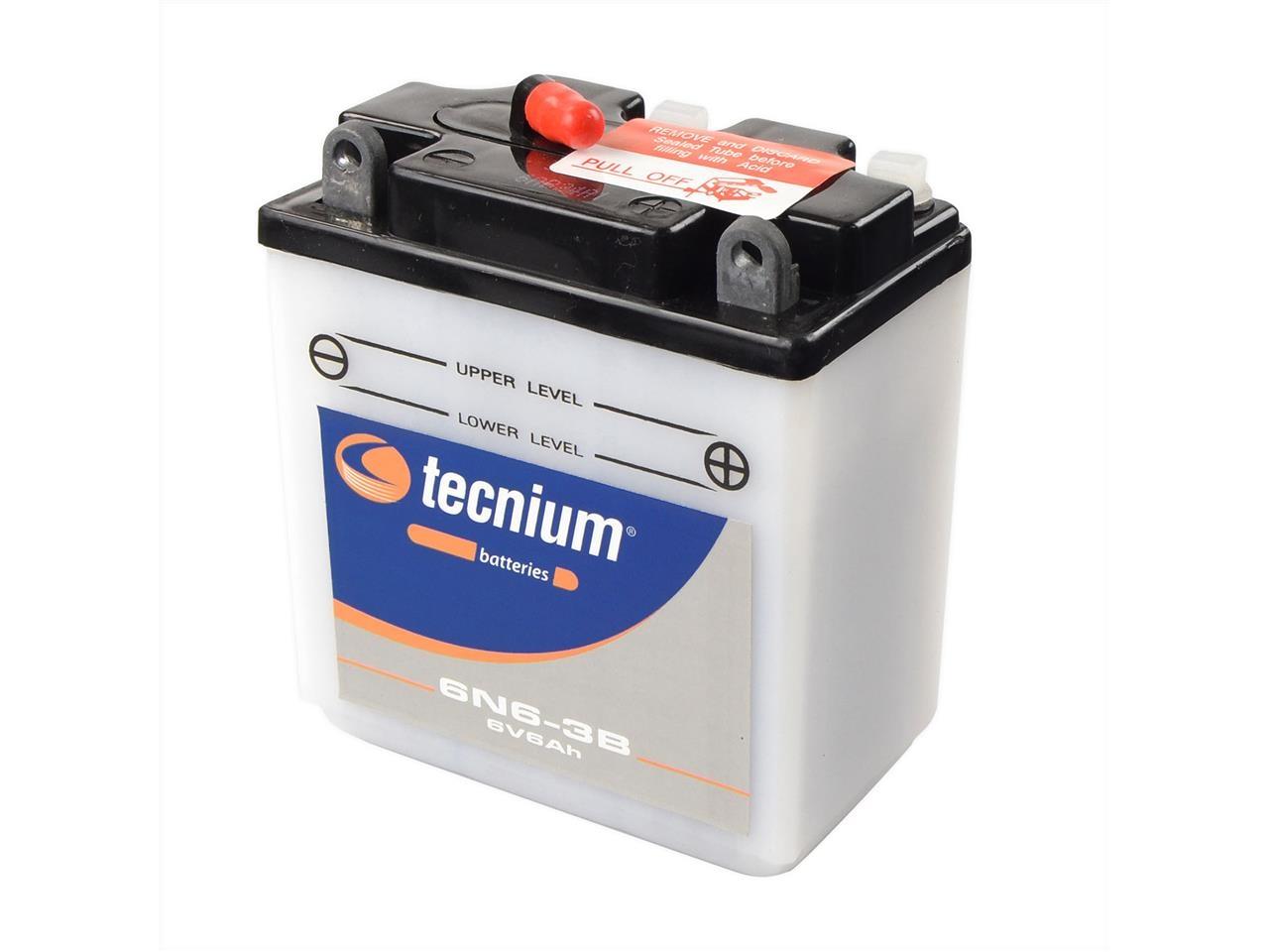 Batterie Tecnium 6N6-3B 6V 6 Ah