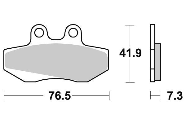 Plaquettes de frein SBS céramique 148HF