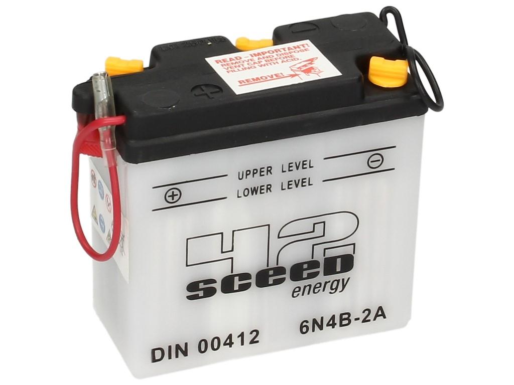 Batterie Sceed 42 6N4B-2A 6V 4Ah avec pack acide